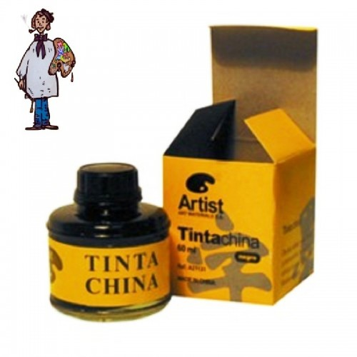 TINTA CHINA NEGRA FRASCO 60 ml