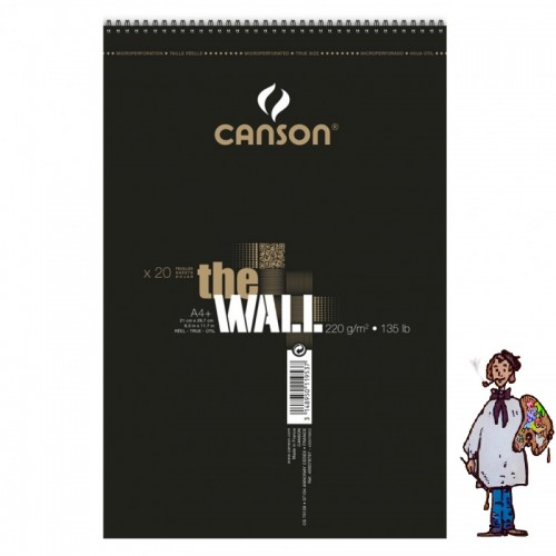 BLOC CANSON THE WALL 220 Gm - 30h A4