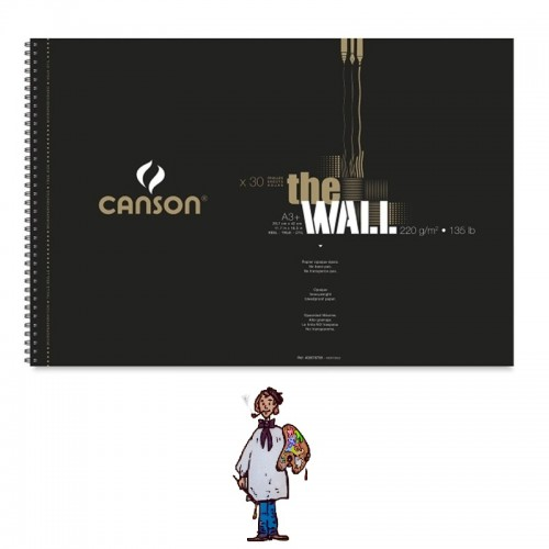 BLOC CANSON THE WALL 220 Gm - 30h A3