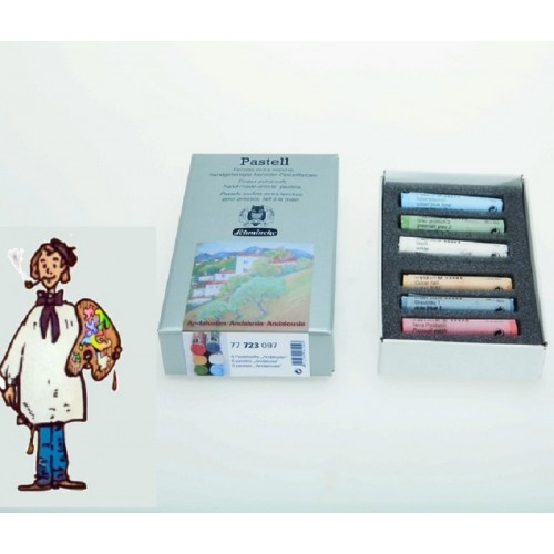 """Pastel Schmincke Caja cartón con 6 pasteles """"Andalucia"""""""