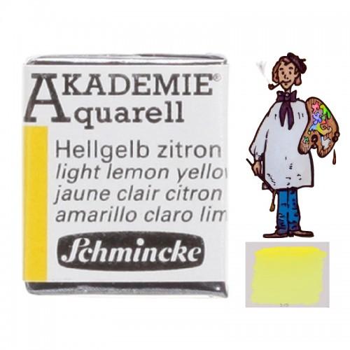 "ACUARELA SCHMINCKE ""AKADEMIE"" 1/2 GODET AMARILLO LIMÓN 222."