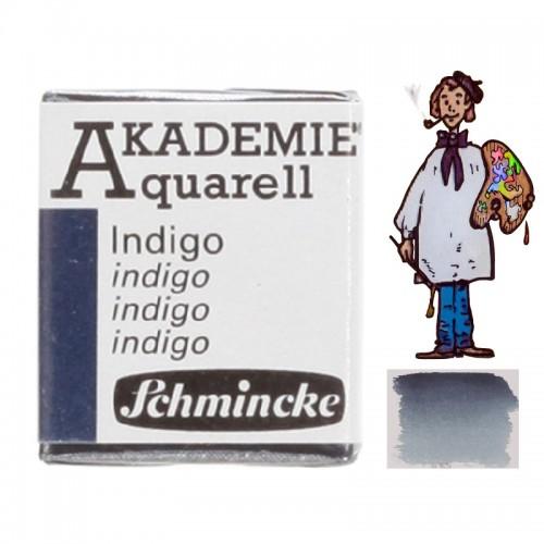 "ACUARELA SCHMINCKE ""AKADEMIE"" 1/2 GODET ÍNDIGO 442"