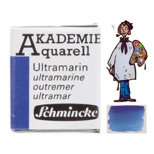 """ACUARELA SCHMINCKE """"AKADEMIE"""" 1/2 GODET ULTRAMARINO 443"""