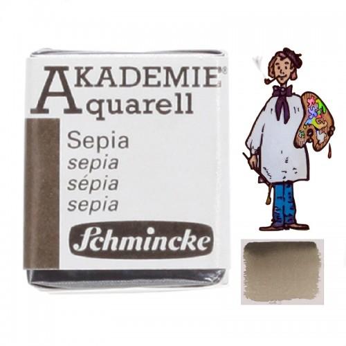 "ACUARELA SCHMINCKE ""AKADEMIE"" 1/2 GODET SEPIA 665"