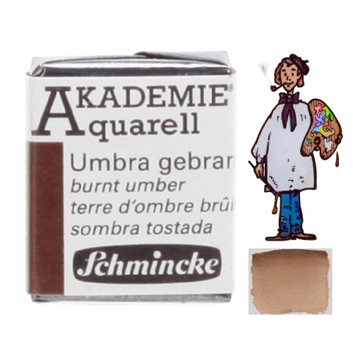 "ACUARELA SCHMINCKE ""AKADEMIE"" 1/2 GODET SOMBRA TOSTADA 664"