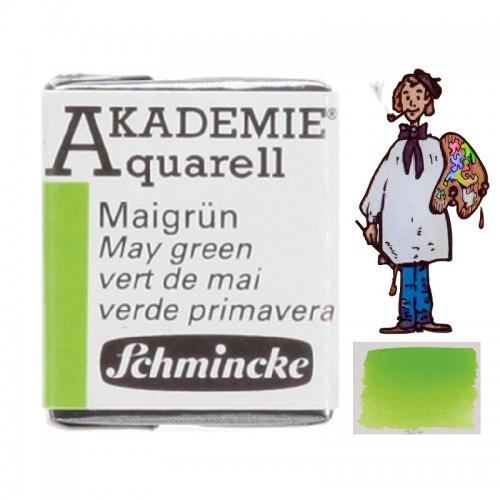 "ACUARELA SCHMINCKE ""AKADEMIE"" 1/2 GODET VERDE MAYO 552"