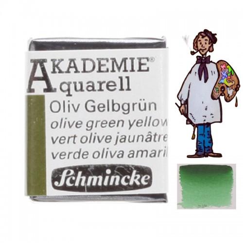 "ACUARELA SCHMINCKE ""AKADEMIE"" 1/2 GODET VERDE OLIVA 554"