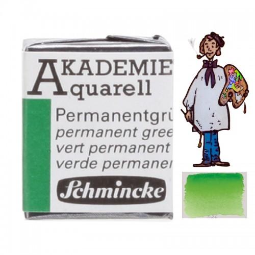 """ACUARELA SCHMINCKE """"AKADEMIE"""" 1/2 GODET VERDE PERMANENT 553"""