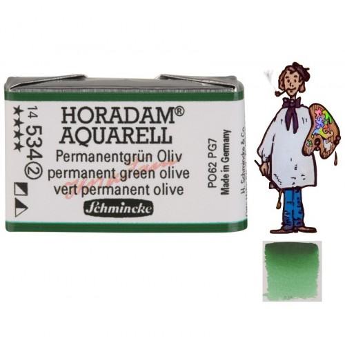 ACUARELA Horadam Godet  S2 .  VERDE PERMANENTE OLIVA- 534