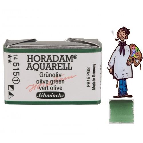 ACUARELA Horadam Godet S1 . VERDE OLIVA  - 515