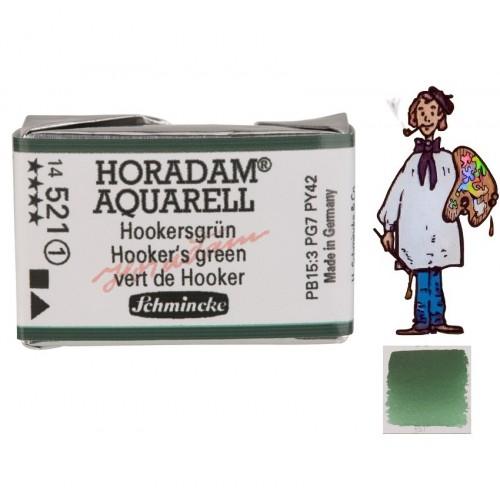 ACUARELA Horadam Godet S1 .VERDE DE HOOKER  - 521