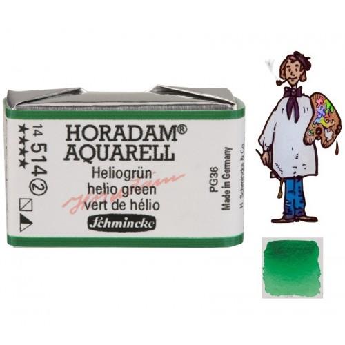 ACUARELA Horadam Godet VERDE DE HELIO S2. - 514