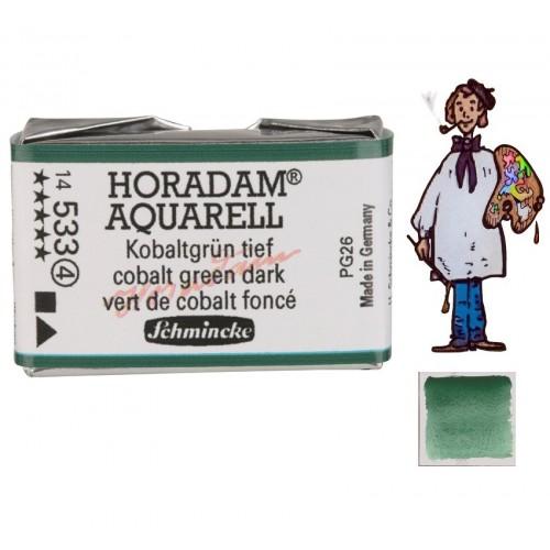 ACUARELA Horadam Godet VERDE DE COBALTO OSCURO S4 . - 533