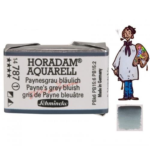 ACUARELA Horadam Godet  S1 . GRIS PAYNE AZULADO- 787