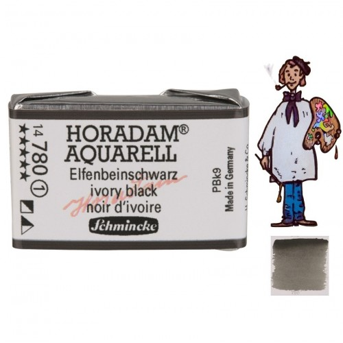 ACUARELA Horadam Godet  S1 . NEGRO MARFIL - 780