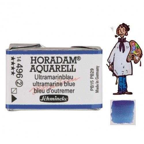 ACUARELA Horadam Godet  S2 . AZUL ULTRAMAR - 496