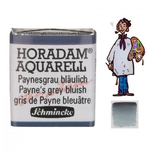 ACUARELA Horadam ½ Godet GRIS PAYNE AZULADO S1. - 787