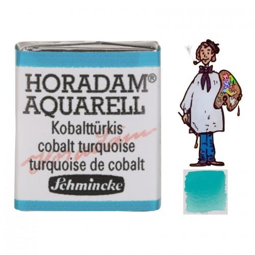 ACUARELA Horadam ½ Godet TURQUESA DE COBALTO S4. - 509
