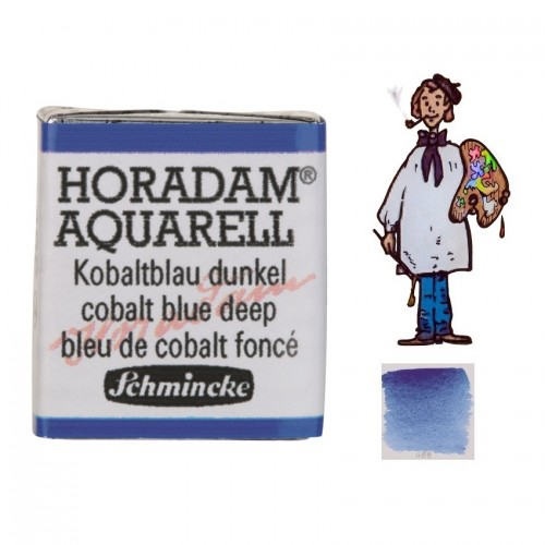 ACUARELA Horadam ½ Godet AZUL COBALTO OSCURO S4. - 488