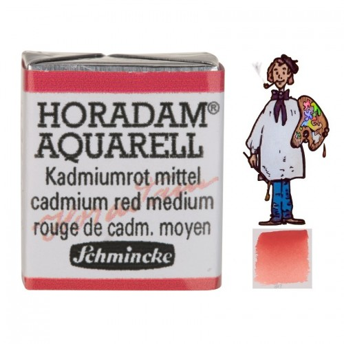 ACUARELA Horadam ½ Godet  ROJO CADMIO MEDIO S3. -  347