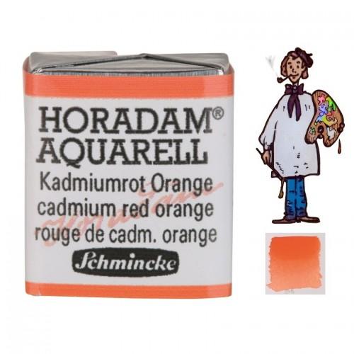 ACUARELA Horadam ½ Godet  ROJO CADMIO NARANJA S 3. - 348