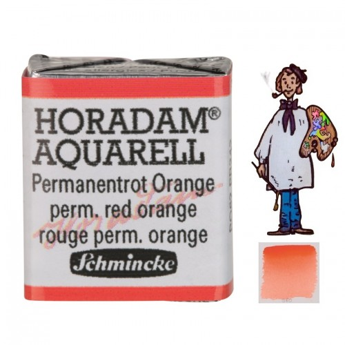ACUARELA Horadam ½ Godet  ROJO NARANJA PERMANENTE S3. - 360