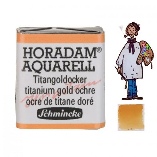 ACUARELA Horadam ½ Godet  OCRE DORADO TITANIO S2. - 659