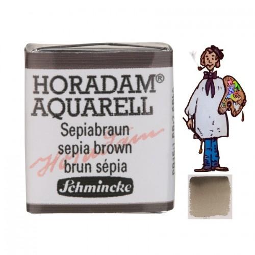 ACUARELA Horadam ½ Godet  PARDO SEPIA S1. - 663