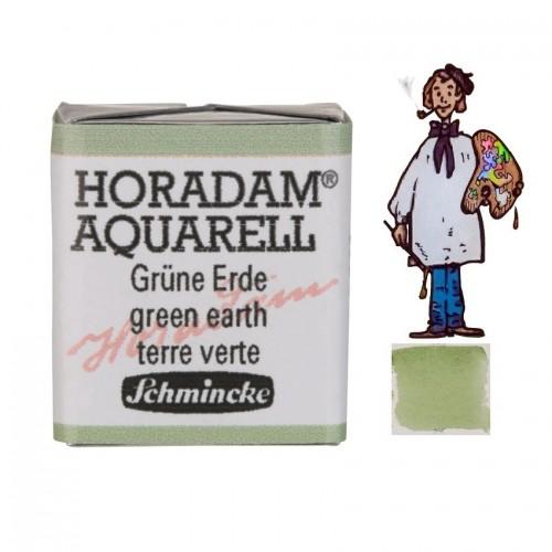 ACUARELA Horadam ½ Godet  TIERRA VERDE S1. - 516