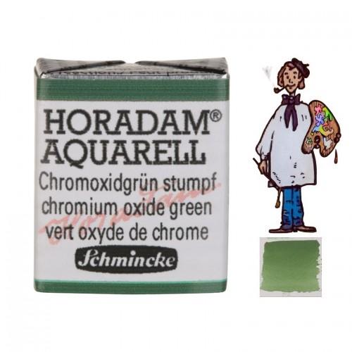 ACUARELA Horadam ½ Godet  VERDE DE CROMO OPACO S2. - 512