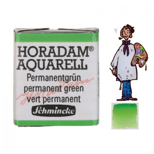 ACUARELA Horadam ½ Godet VERDE PERMANENTE S2. - 526