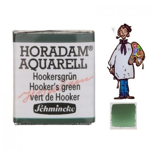 ACUARELA Horadam ½ Godet  VERDE DE HOOKER S1. - 521