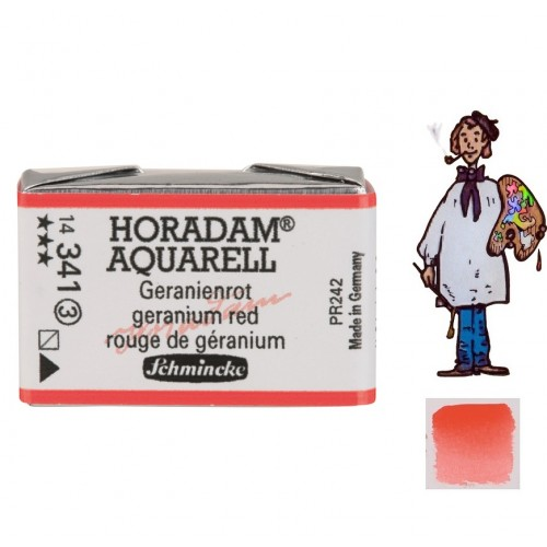 ACUARELA Horadam Godet  ROJO DE GERANIO S3.-341