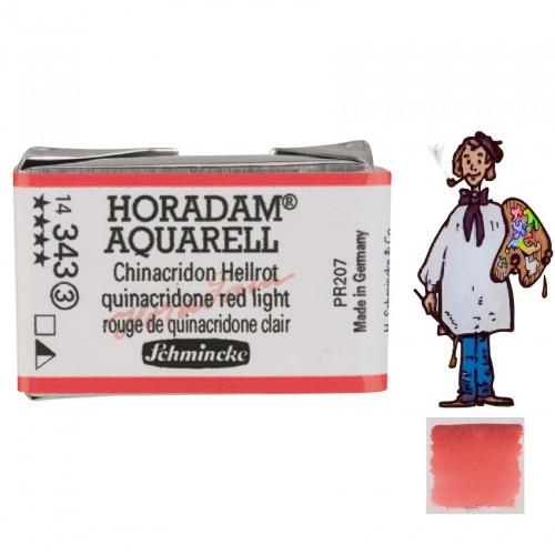 ACUARELA Horadam Godet ROJO QUINACRIDONA CLARO S3.- 343