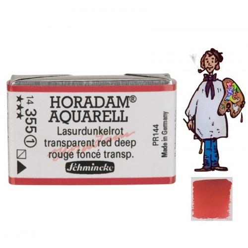 ACUARELA Horadam Godet ROJO OSCURO TRANSPARENTE S1.- 355