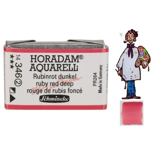 ACUARELA Horadam Godet ROJO DE RUBÍ OSCURO S2. - 346