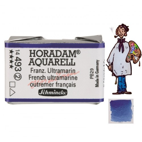 ACUARELA Horadam Godet  ULTRAMAR FRANCÉS  S2.- 493