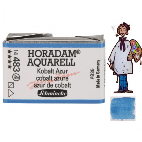 ACUARELA Horadam Godet  AZUR DE COBALTO S4.- 483