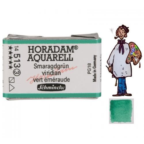 ACUARELA Horadam Godet  VERDE ESMERALDA S3.- 513