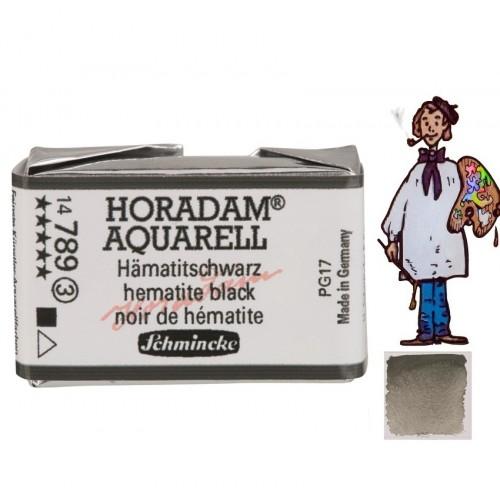 ACUARELA Horadam Godet  NEGRO DE HEMATITA.- 789