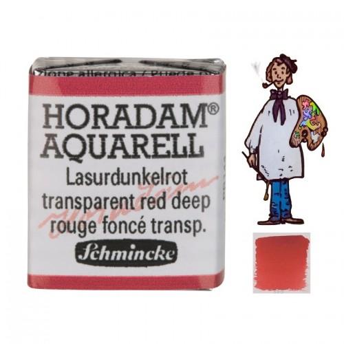 ACUARELA Horadam ½ Godet ROJO OSCURO TRANSPARENTE  S1.- 355