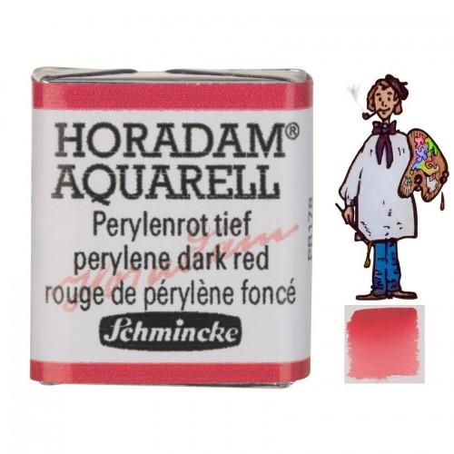 ACUARELA Horadam ½ Godet ROJO DE PERILENO OSCURO  S3 .- 344
