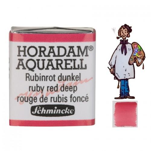 ACUARELA Horadam ½ Godet ROJO DE RUBÍ OSCURO S2. - 346