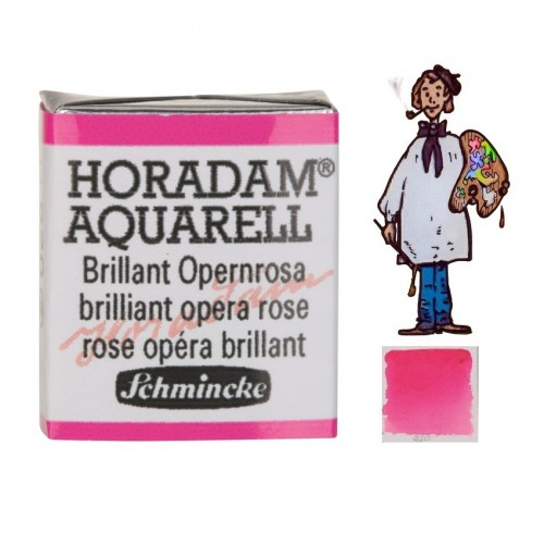 ACUARELA Horadam ½ Godet FLOR DE ROSA ÓPERA BRILLANTE  S2.- 920