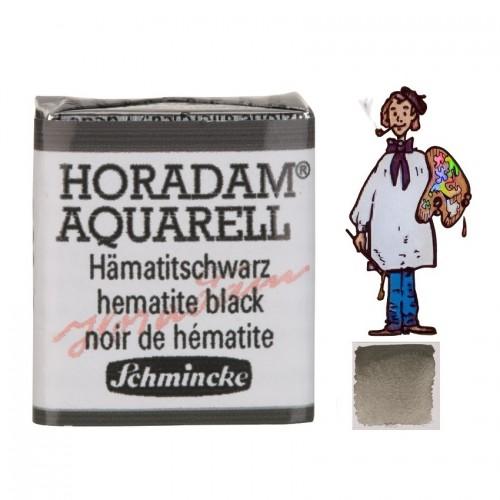 ACUARELA Horadam ½ Godet NEGRO DE HEMATITA.- 789