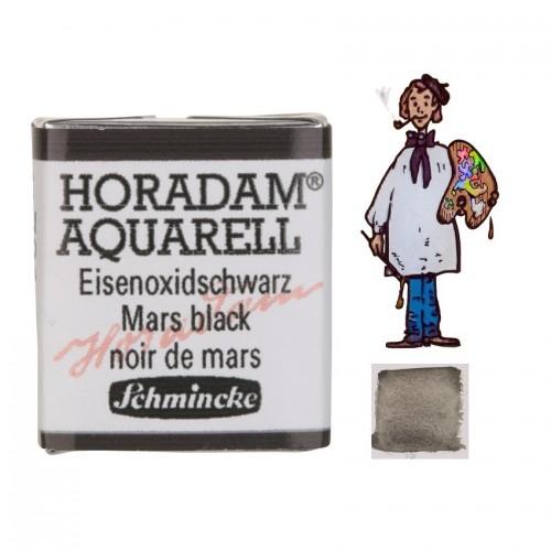 ACUARELA Horadam ½ Godet NEGRO DE MARTE  S1 .- 791