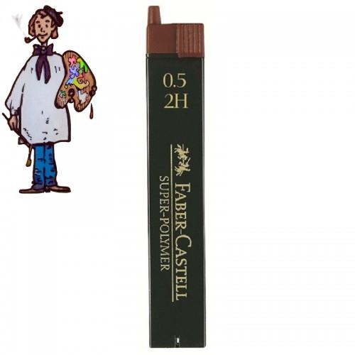 Minas Faber Castell para portaminas de 0.5 mm 2H