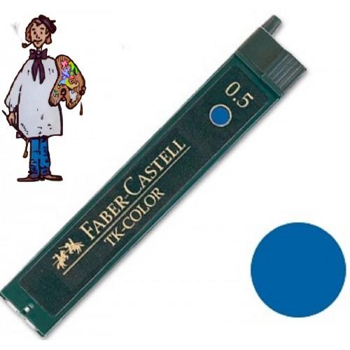 Minas color azul Faber Castell para portaminas de 0.5 mm