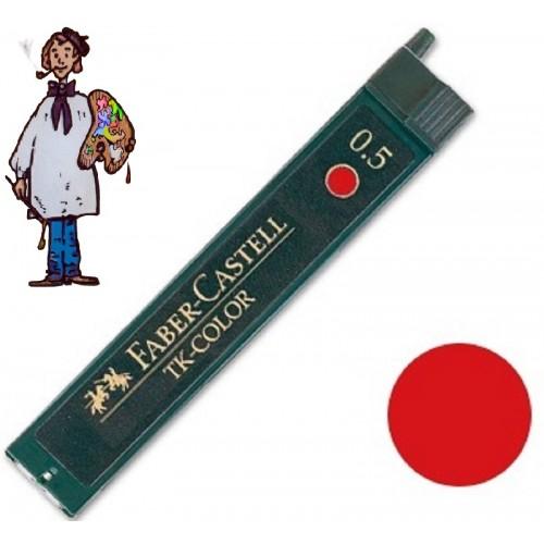 Minas color rojo Faber Castell para portaminas de 0.5 mm