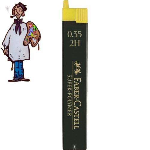 Minas Faber Castell para portaminas de 0.35 mm 2H